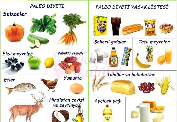 Paleolitik Diyet listesi