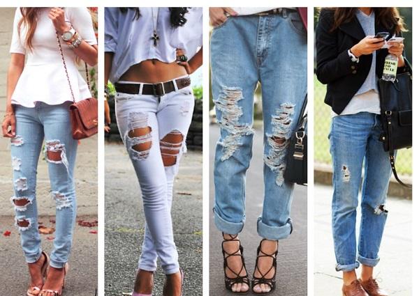 yırtık pantolon modeli