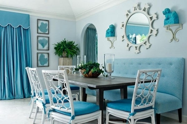 mavi dekorasyon